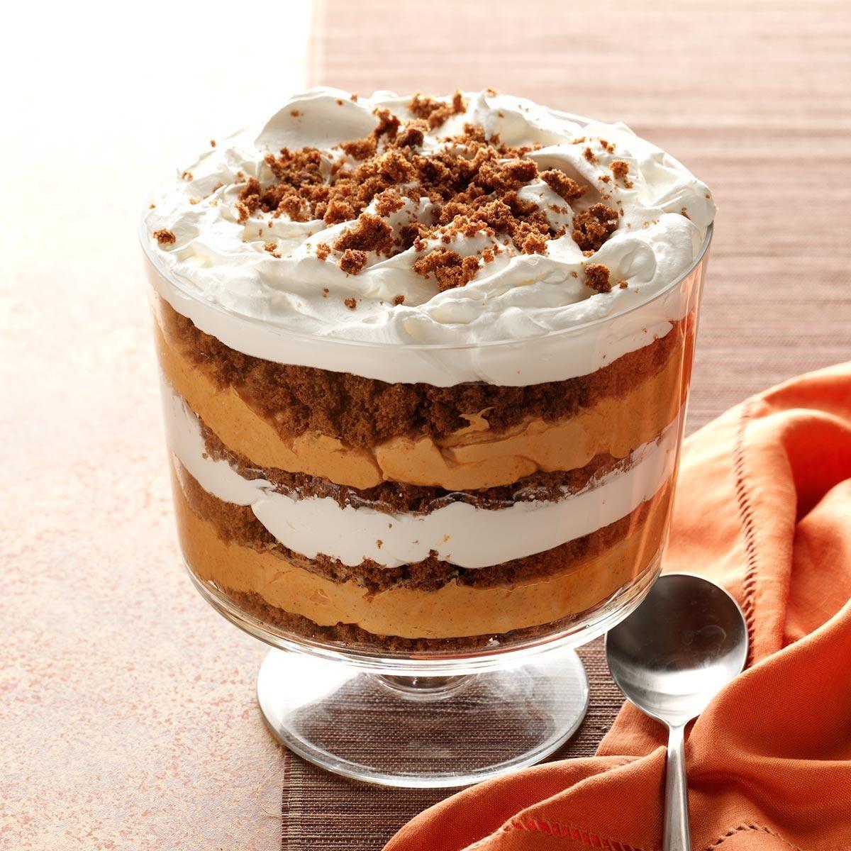 Pumpkin-Butterscotch Gingerbread Trifle