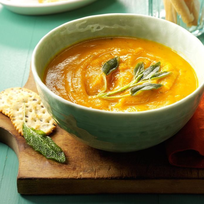 The Classic: Creamy Butternut Squash & Sage Soup