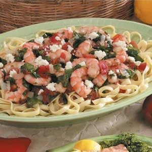 Spicy Shrimp Fettuccine