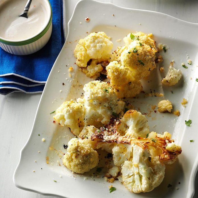 Roasted Cauliflower with Tahini Yogurt Sauce