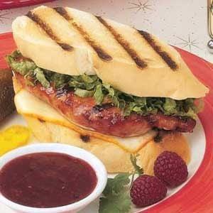 Raspberry Chicken Sandwiches