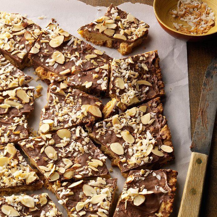 Corteza de galleta de coco y almendras