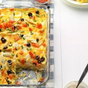 Enchilada Casserole with Chicken
