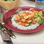 Sweet-and-Sour Chicken with Rice