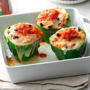 Quinoa & Black Bean-Stuffed Peppers
