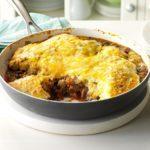 Fiesta Beef & Cheese Skillet Cobbler