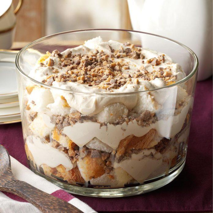 Caramel Fluff & Toffee Trifle