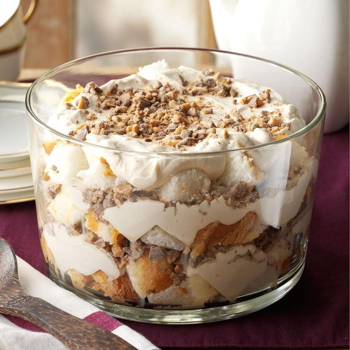Dessert Course: Caramel Fluff & Toffee Trifle
