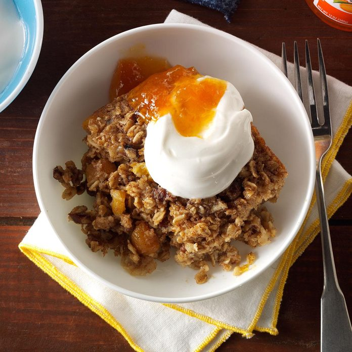Spiced Apricot Baked Oatmeal
