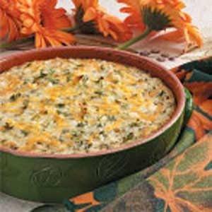 Cheesy Green Rice