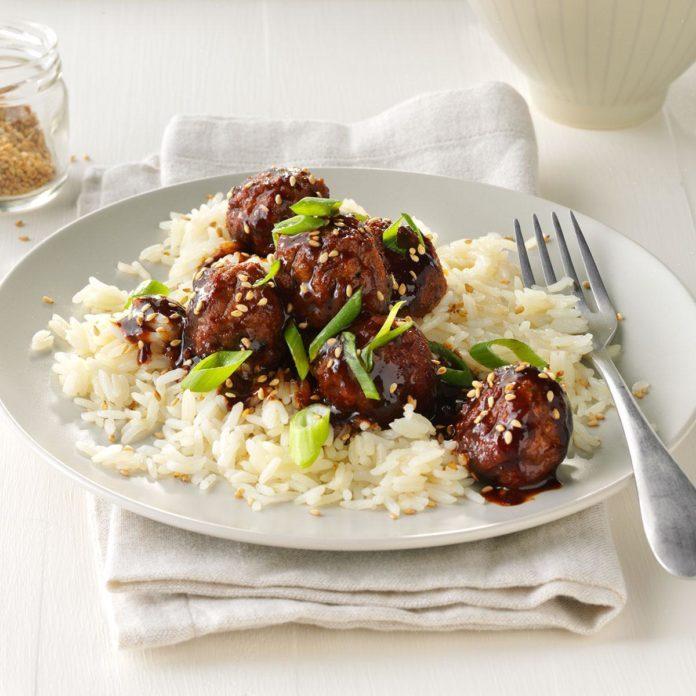 Day 7: Easy Asian Glazed Meatballs