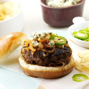 Jalapeno Burgers with Gorgonzola