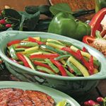 Grilled Peppers and Zucchini for Two