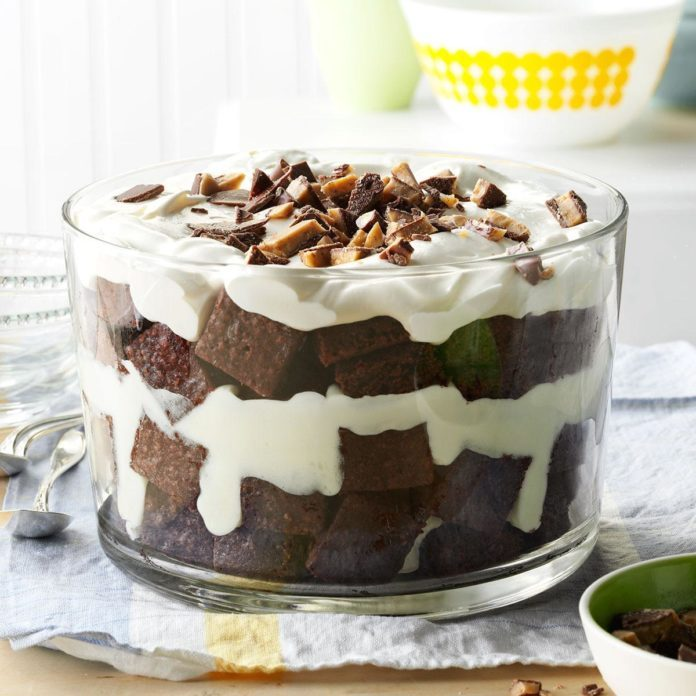 South Dakota: Toffee Brownie Trifle