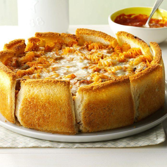 Garlic Bread Pasta Torte