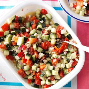 Garden Cucumber Salad