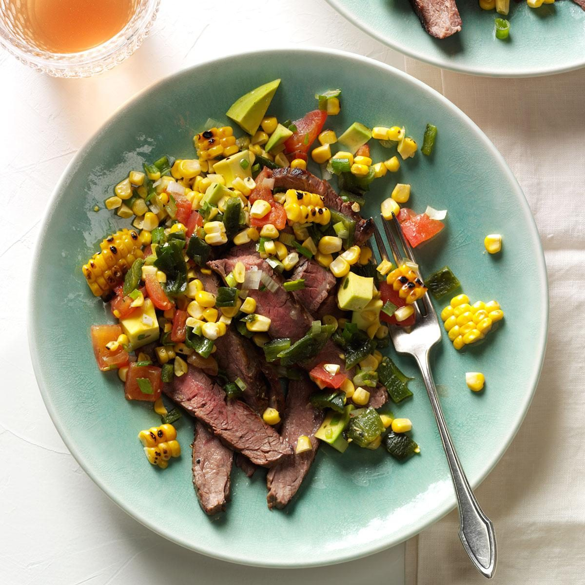 Grilled Flank Steak with Summer Relish