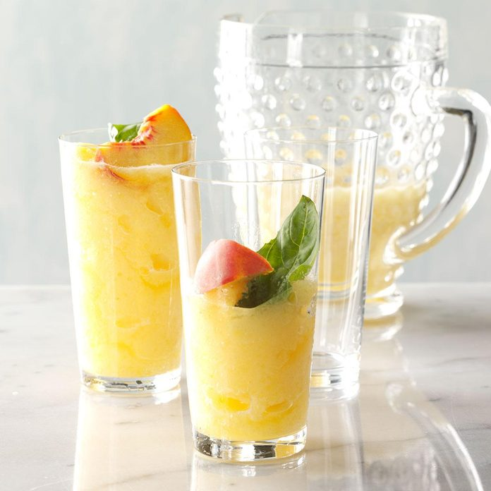 Peach-Basil Lemonade Slush