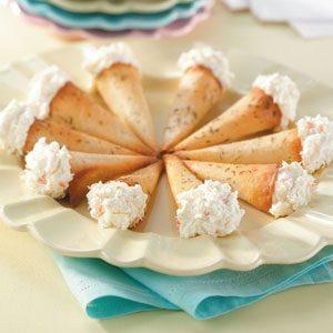 Crab-Stuffed Cones
