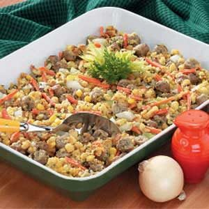 Sausage with Corn Stuffing