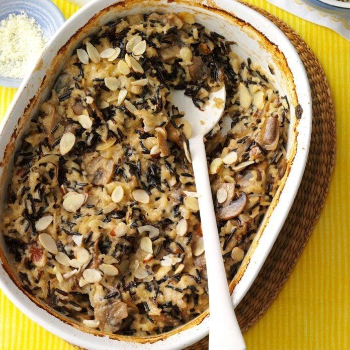 Day 13: Wild Rice Mushroom Bake