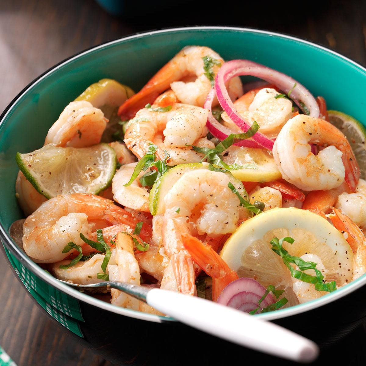 Pickled Shrimp with Basil