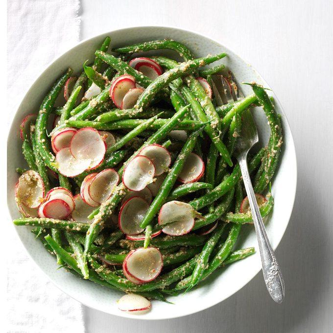 Green Beans and Radish Salad with Tarragon Pesto
