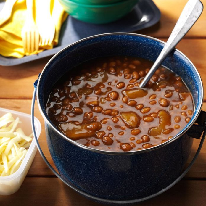 Root Beer Apple Baked Beans