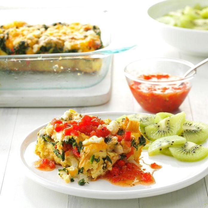 Day 6 Breakfast: Mediterranean Veggie Brunch Puff