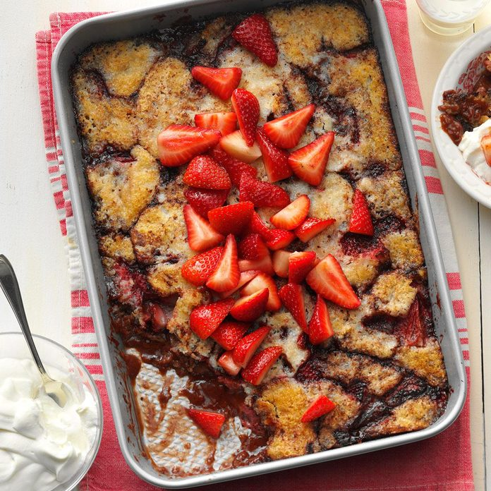 Chocolate-Covered Strawberry Cobbler