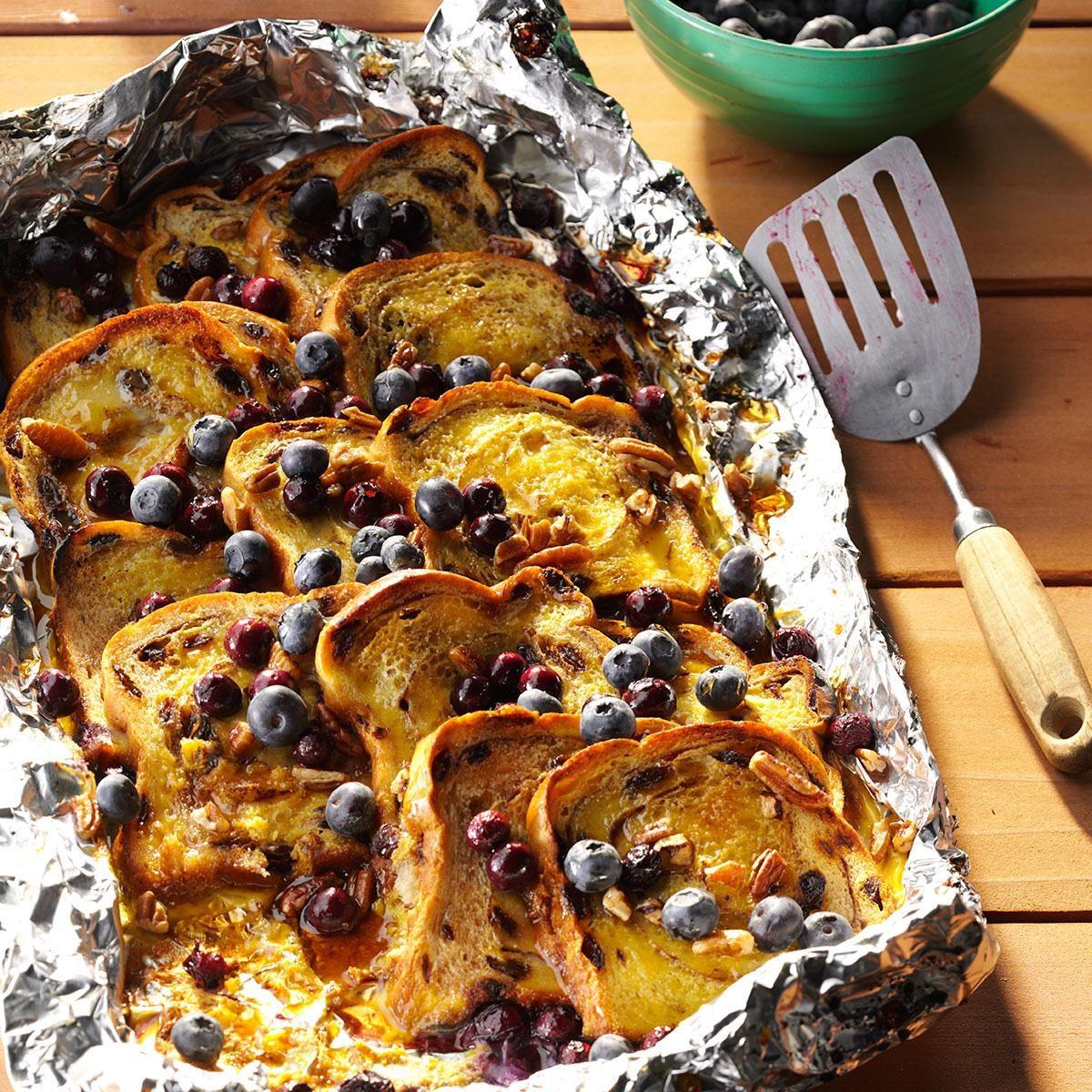 100 Camping Recipes On Pinterest: Blueberry-Cinnamon Campfire Bread Recipe