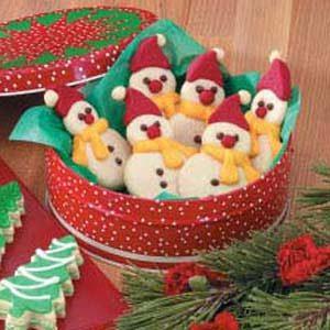 Butter Cookie Snowmen