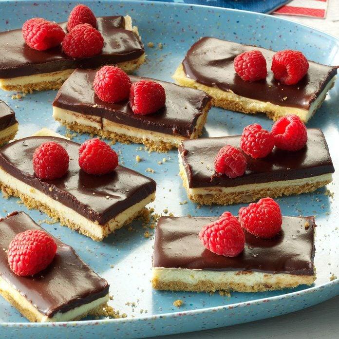 Berry & Ganache Cheesecake Bars