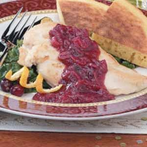 Chicken with Cranberry-Orange-Pecan Sauce
