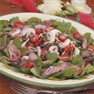 Flank Steak Spinach Salad