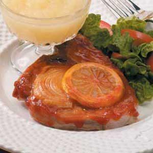 Lemon Barbecued Pork Chops