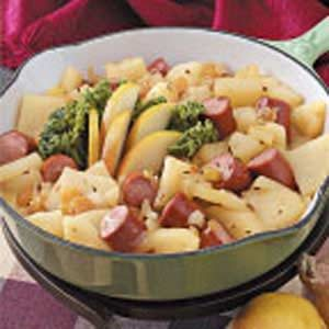 Tangy Franks and Pears