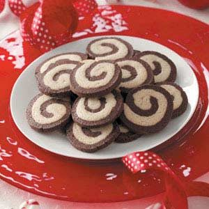Chocolate Peppermint Pinwheels