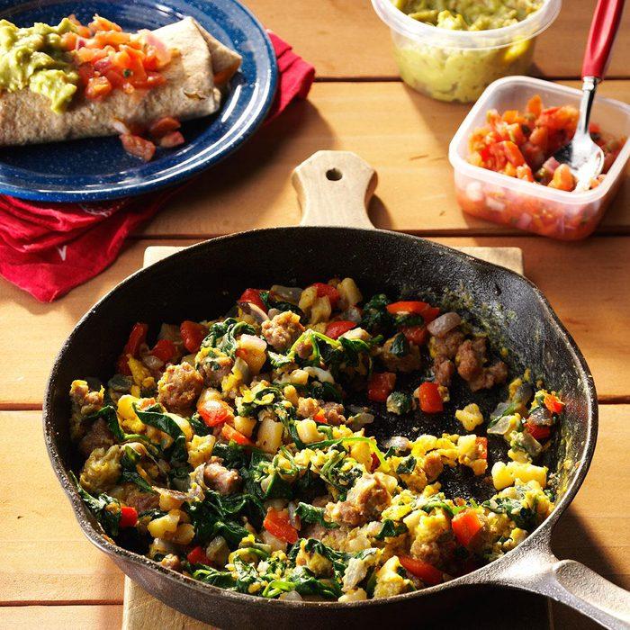 Egg & Spinach Breakfast Burritos