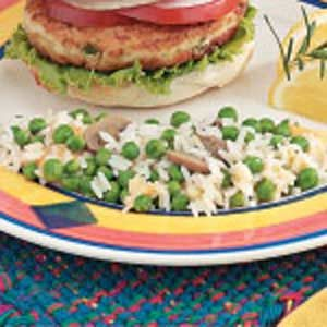 Cheesy Rice with Peas