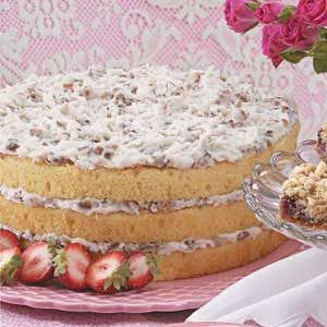 Coconut Cream Torte