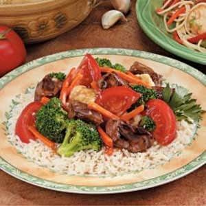Vegetable Steak Stir-Fry