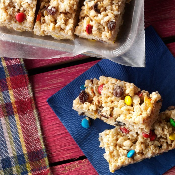 Washington: No-Bake Cereal Cookie Bars