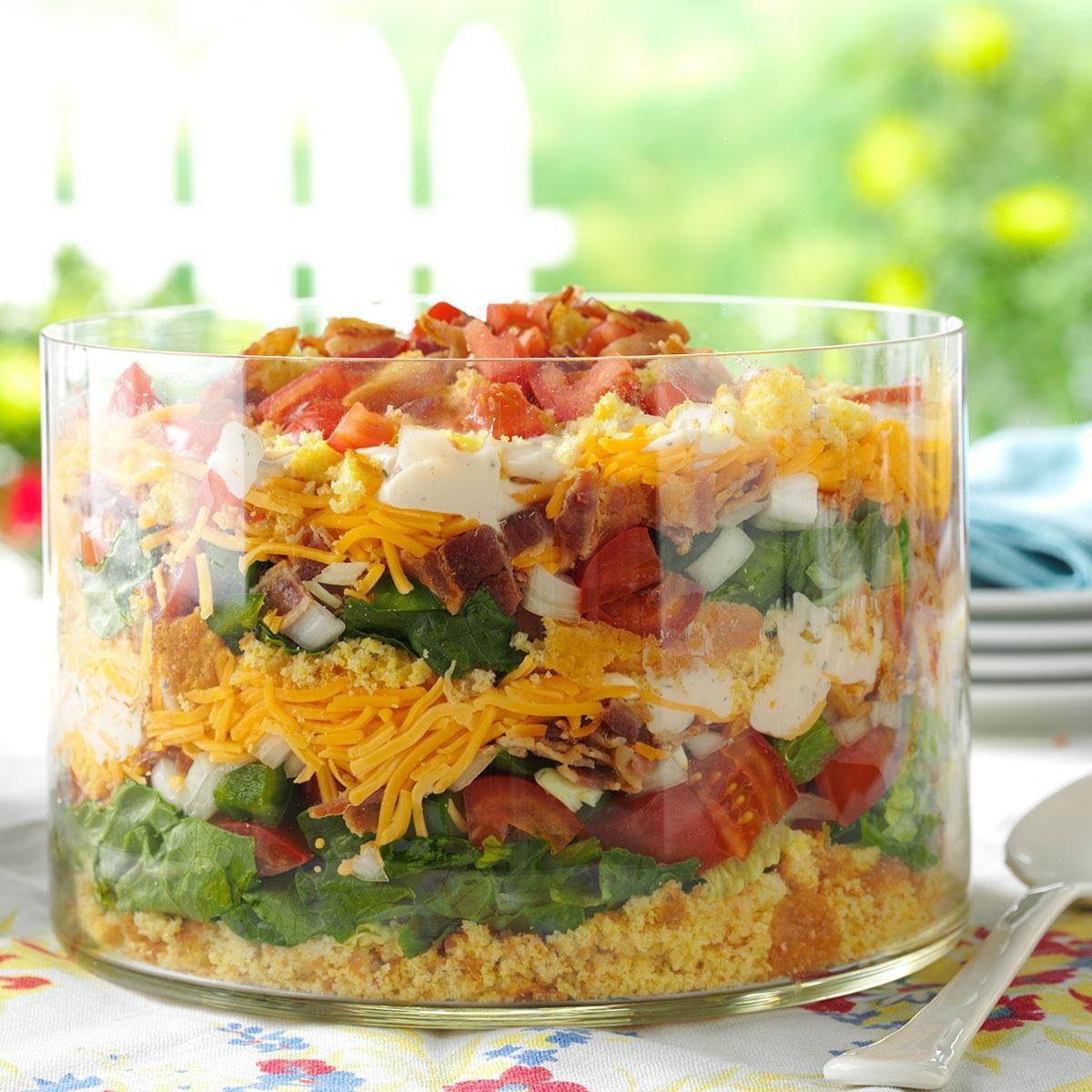 Colorful Cornbread Salad Recipe