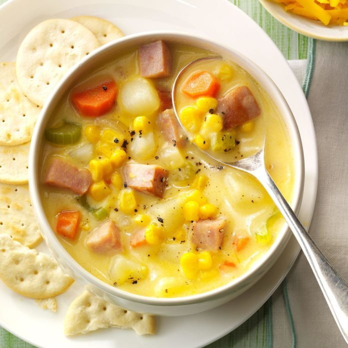South Dakota: Cheddar Ham Chowder