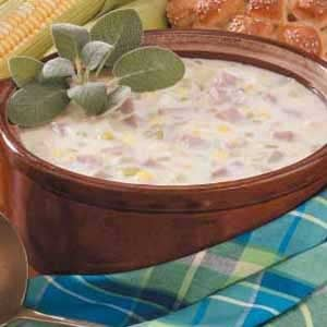 Contest-Winning Ham and Corn Chowder