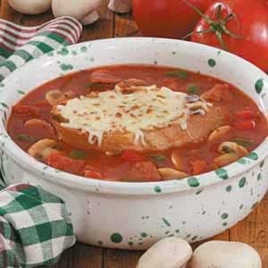 Contest-Winning Pizza Soup