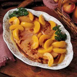 Peachy Ham Slice