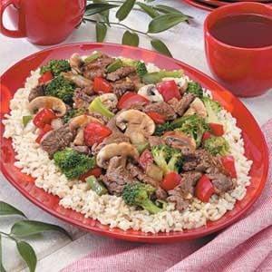 Teriyaki Beef Stir-Fry for 3