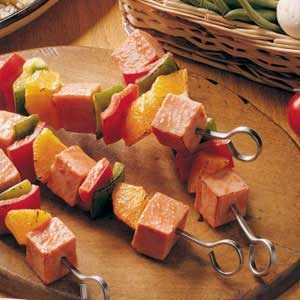 Orange Ham Kabobs